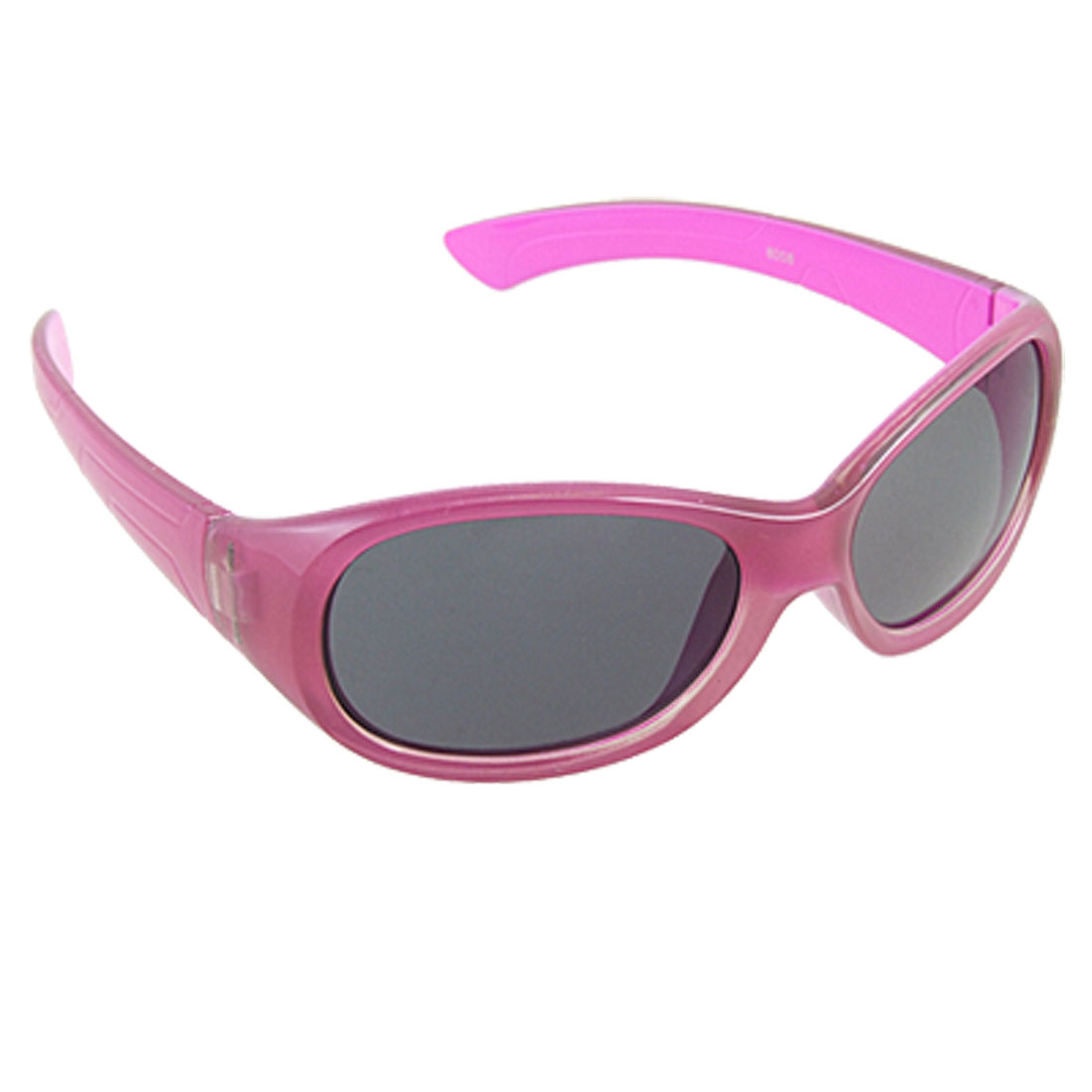Clear Fuchsia Gray Lens Full Rim Plastic Sunglasses for Child