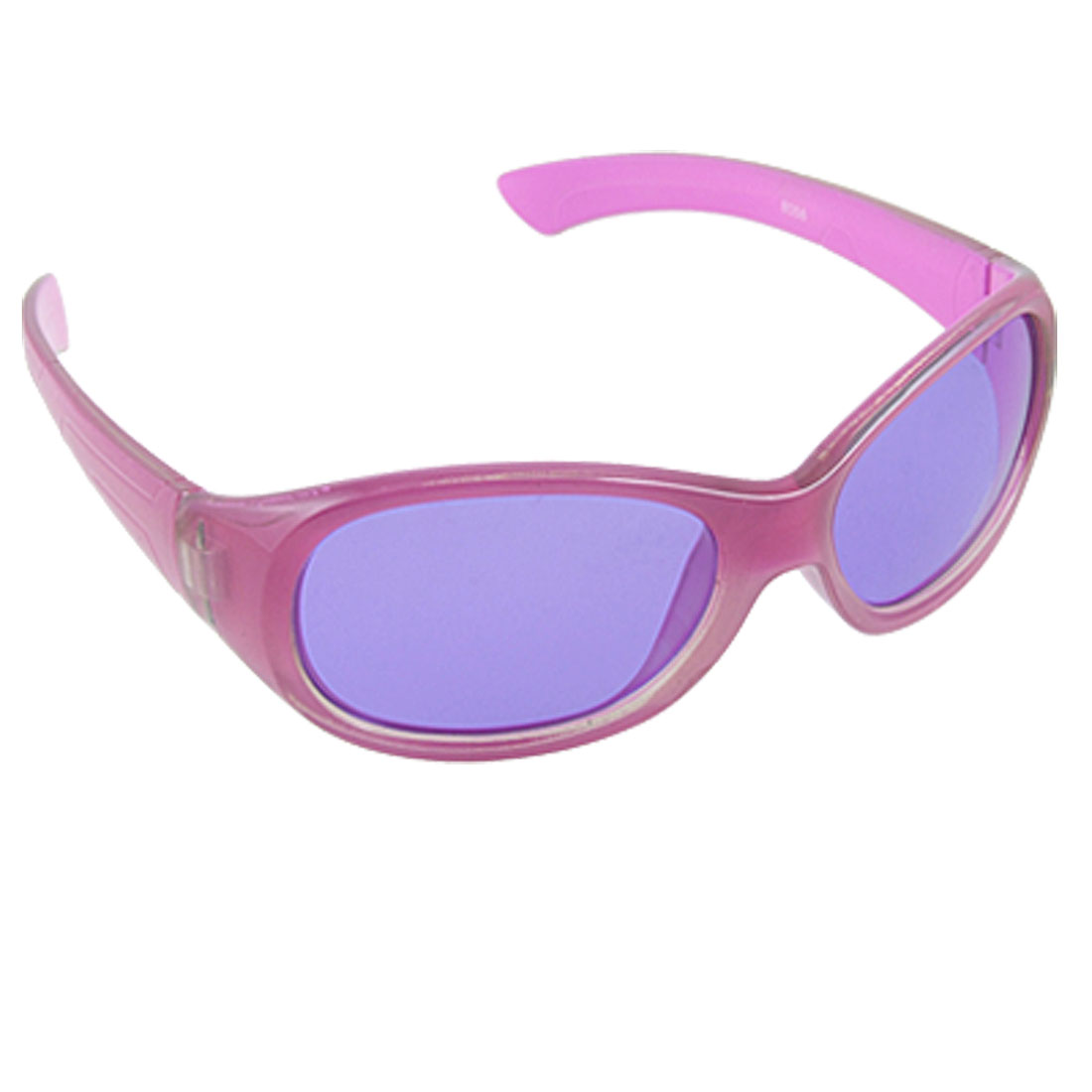Girl Fuchsia Purple Hard Plastic Full Frame Sunglasses