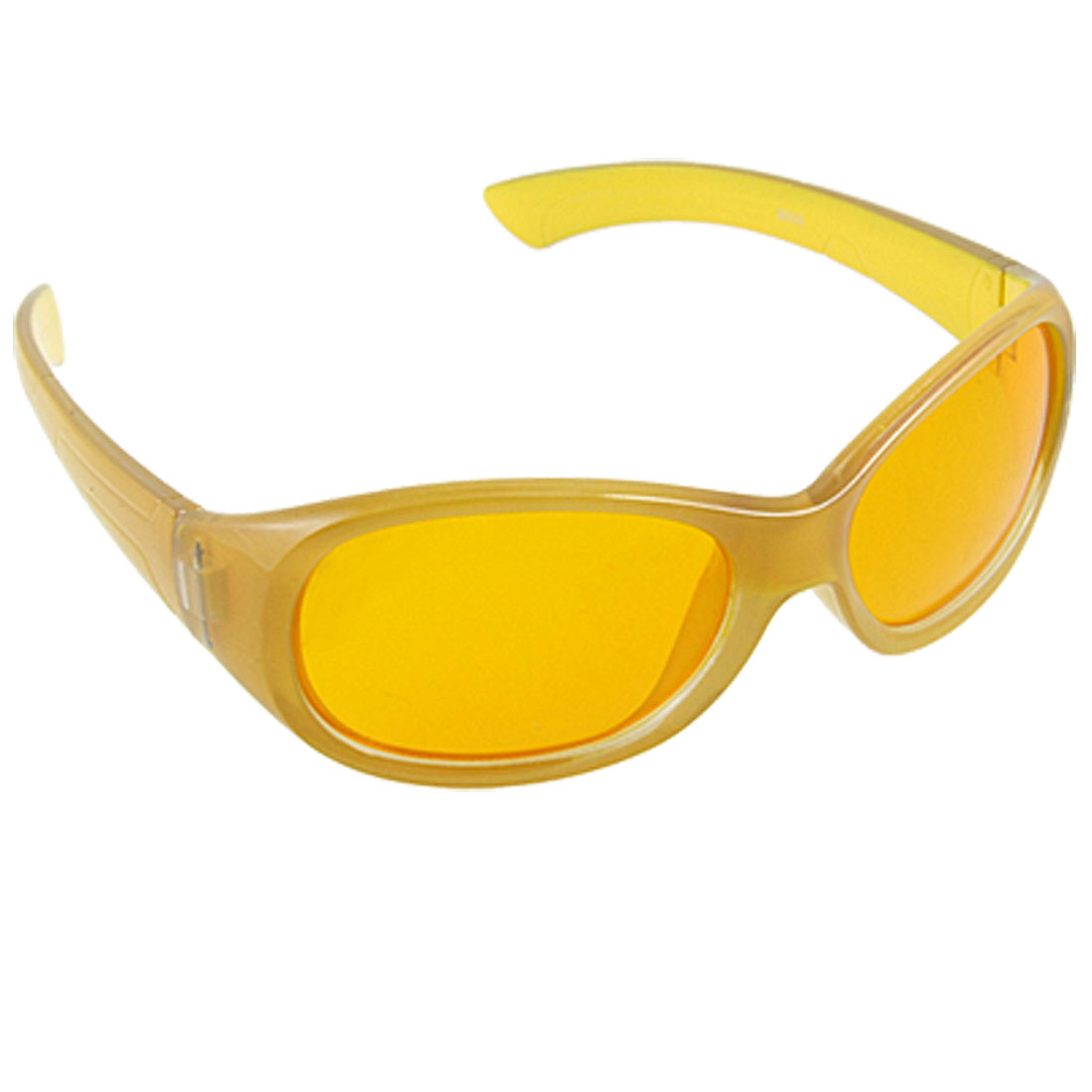 Full Rim Clear Gray Yellow Frame Sunglasses for Child