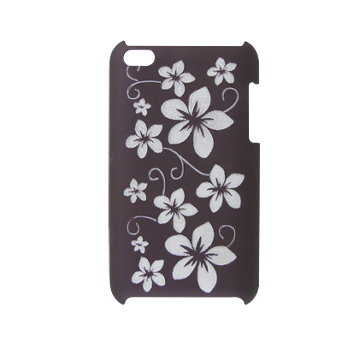 Nonslip Rubberized Plastic Flower Hard Cover for iPod Touch 4G