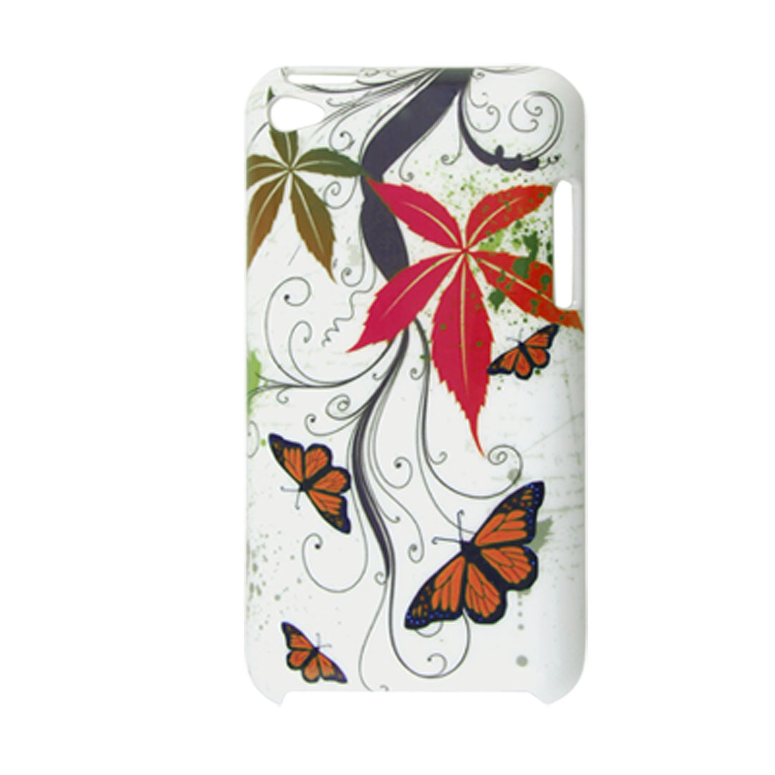 Colorful Butterfly Leaf Pattern Plastic Cover for iPod Touch 4G