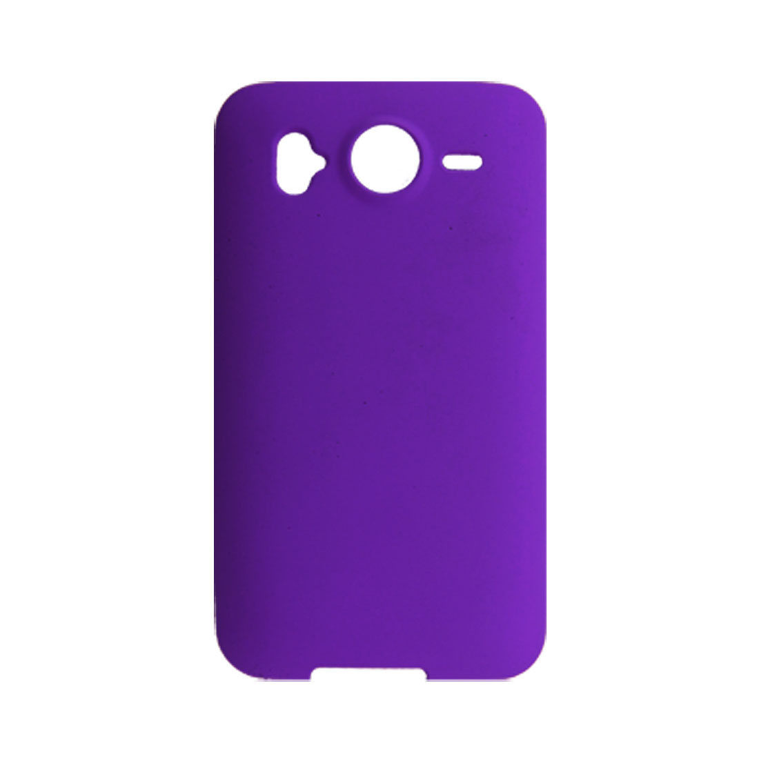 Purple Rubberized Hard Plastic Back Case for HTC Desire HD