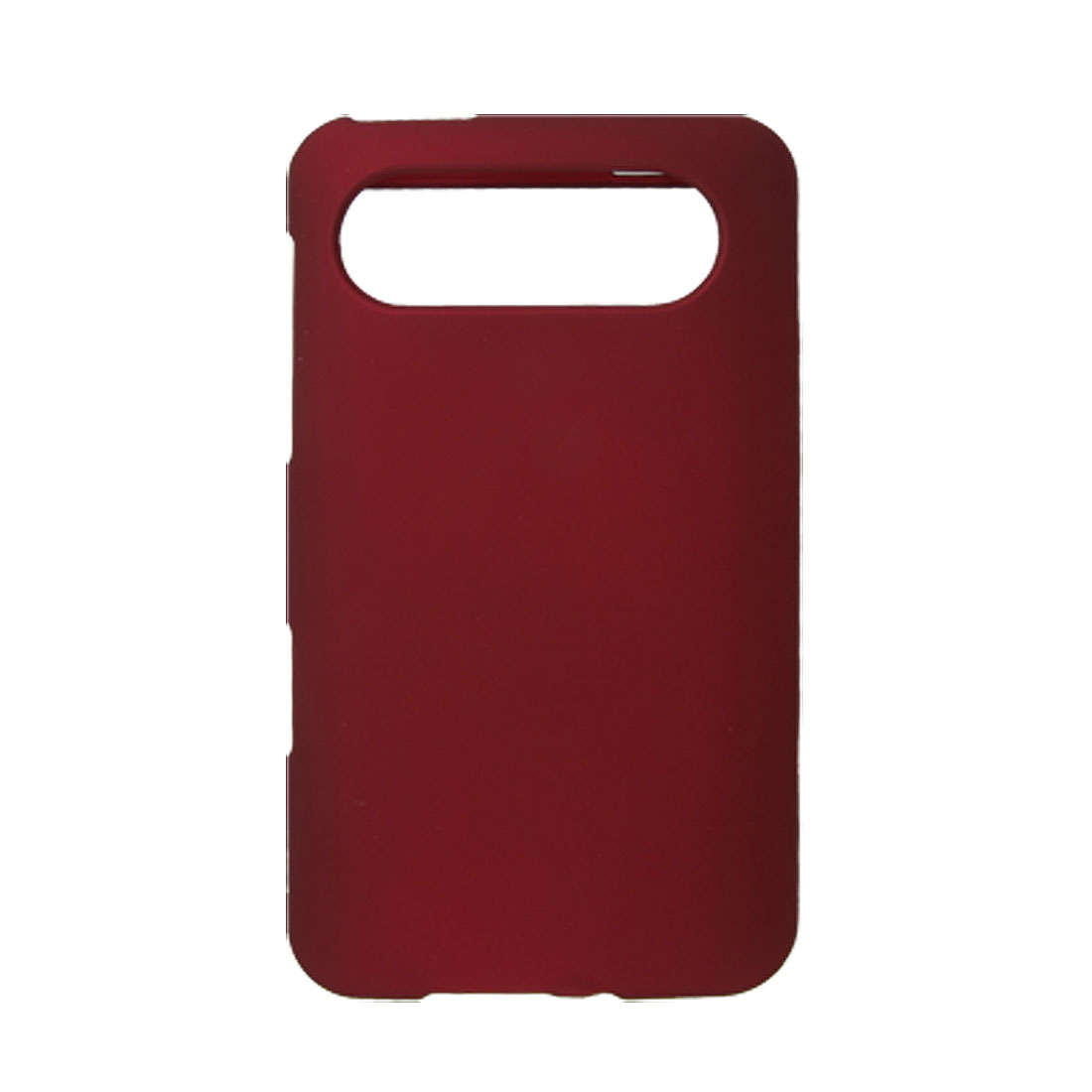 Burgundy Rubberized Hard Plastic Back Cover for HTC Schubert HD7