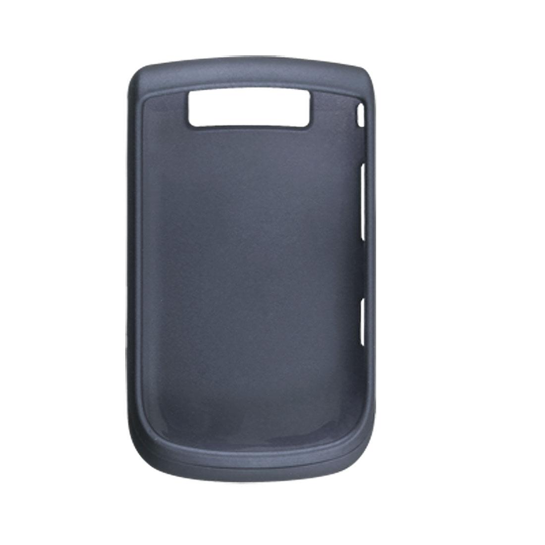 Navy Blue Rubberized Plastic Cover for Blackberry 9800