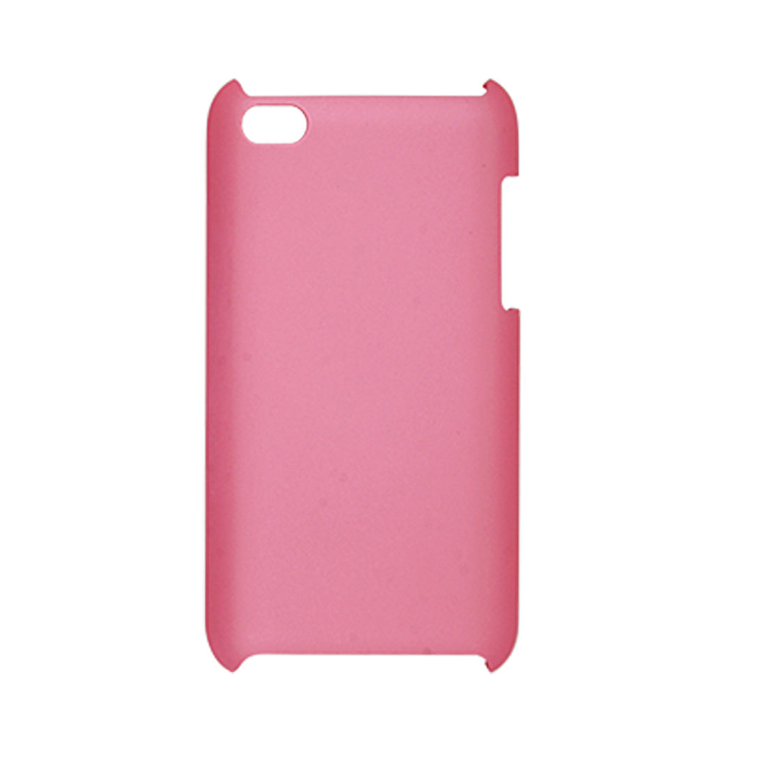 Dark Pink Rubberized Plastic Back Case for iPod Touch 4G