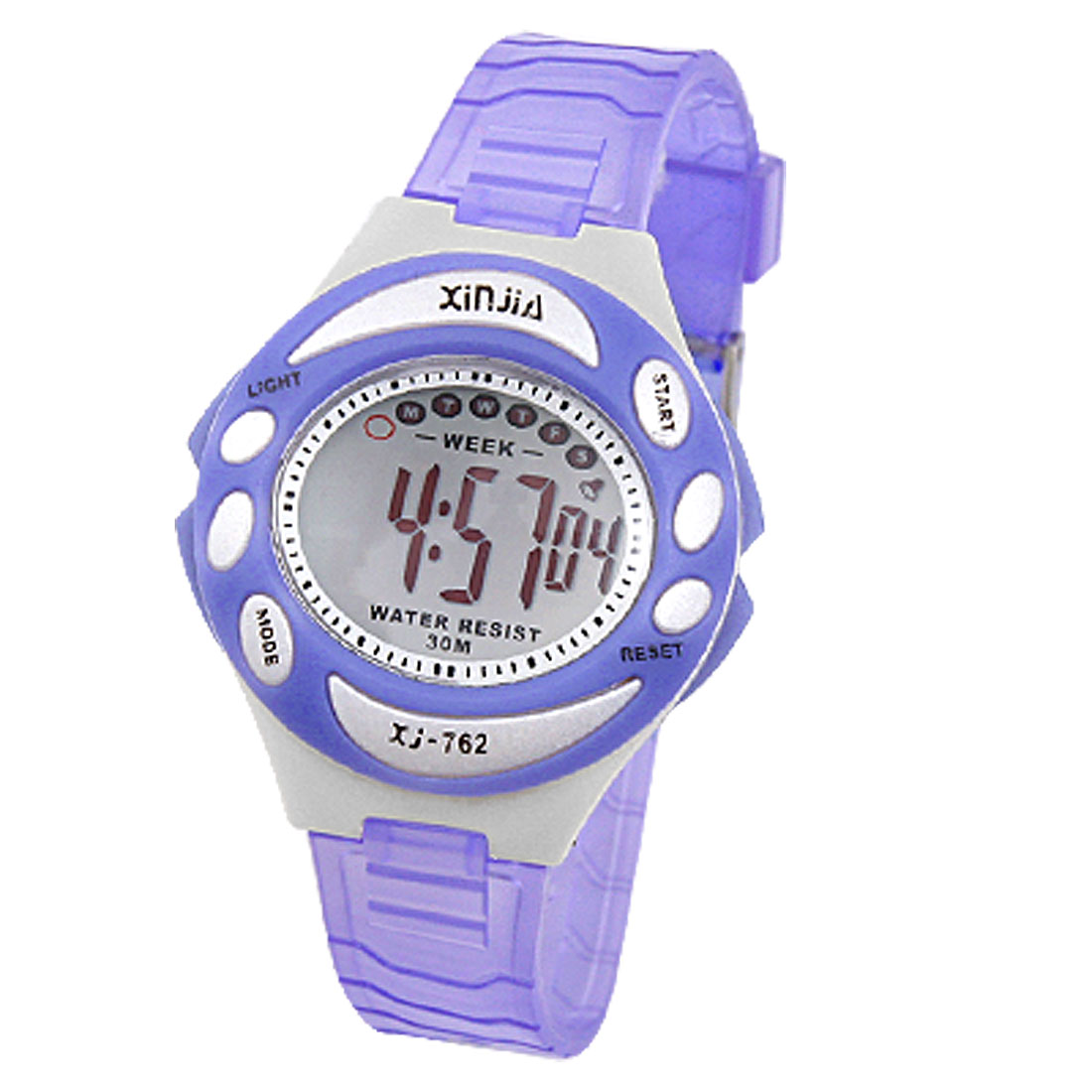 Unisex Adjustable Band Hourly Chime Sports Digital Watch