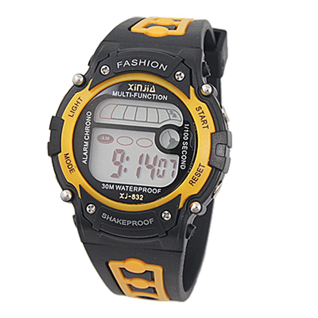 Unisex Cold Night Round Dial Stopwatch Digital Watch