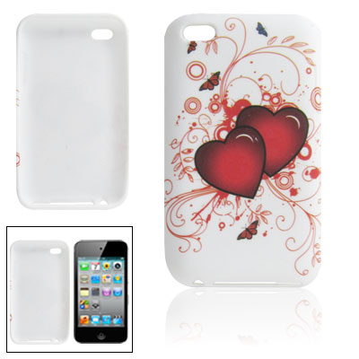 Heart Pattern Soft Plastic Shield Cover for iPod Touch 4G