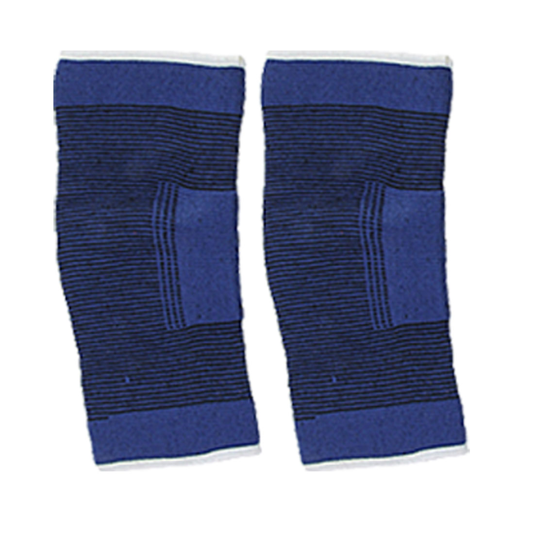 2 Pcs Blue Stripe Closed Patellar Knee Elbow Wrap Sport Support