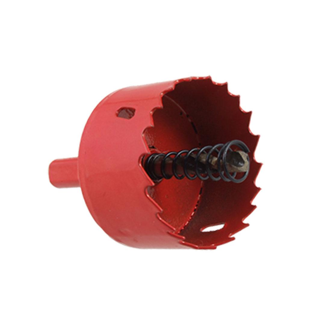 Twist Drill Bit Triangle Shank Red Metal 50mm Hole Saw