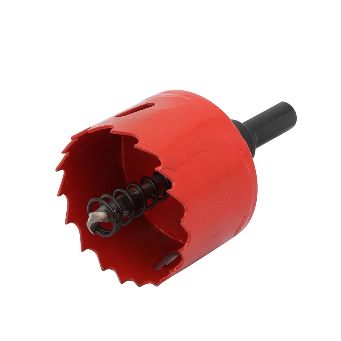 Twist Bit Triangle Shank 45mm Wood Plastic Drilling Red Hole Saw