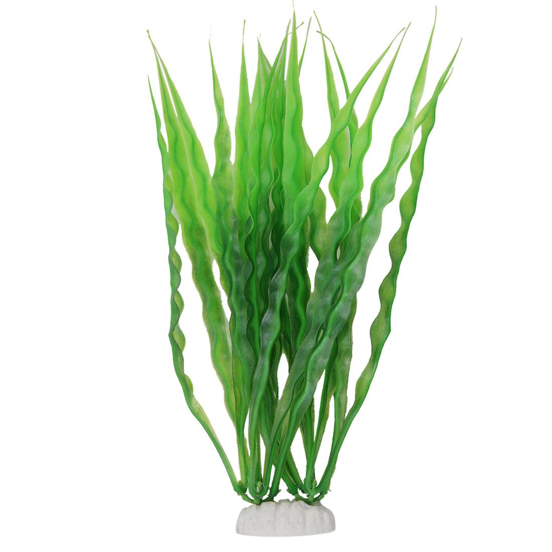 Fish Tank Plastic Long Grass Green Decoration Ornament