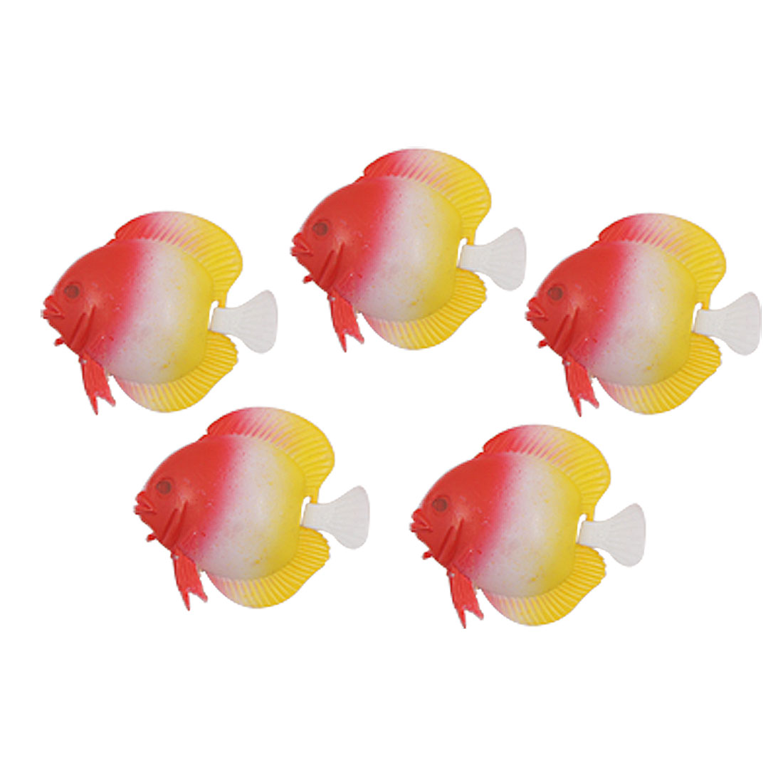 Wiggling Tail Floating Plastic Fish Aquarium Ornament 5PCS