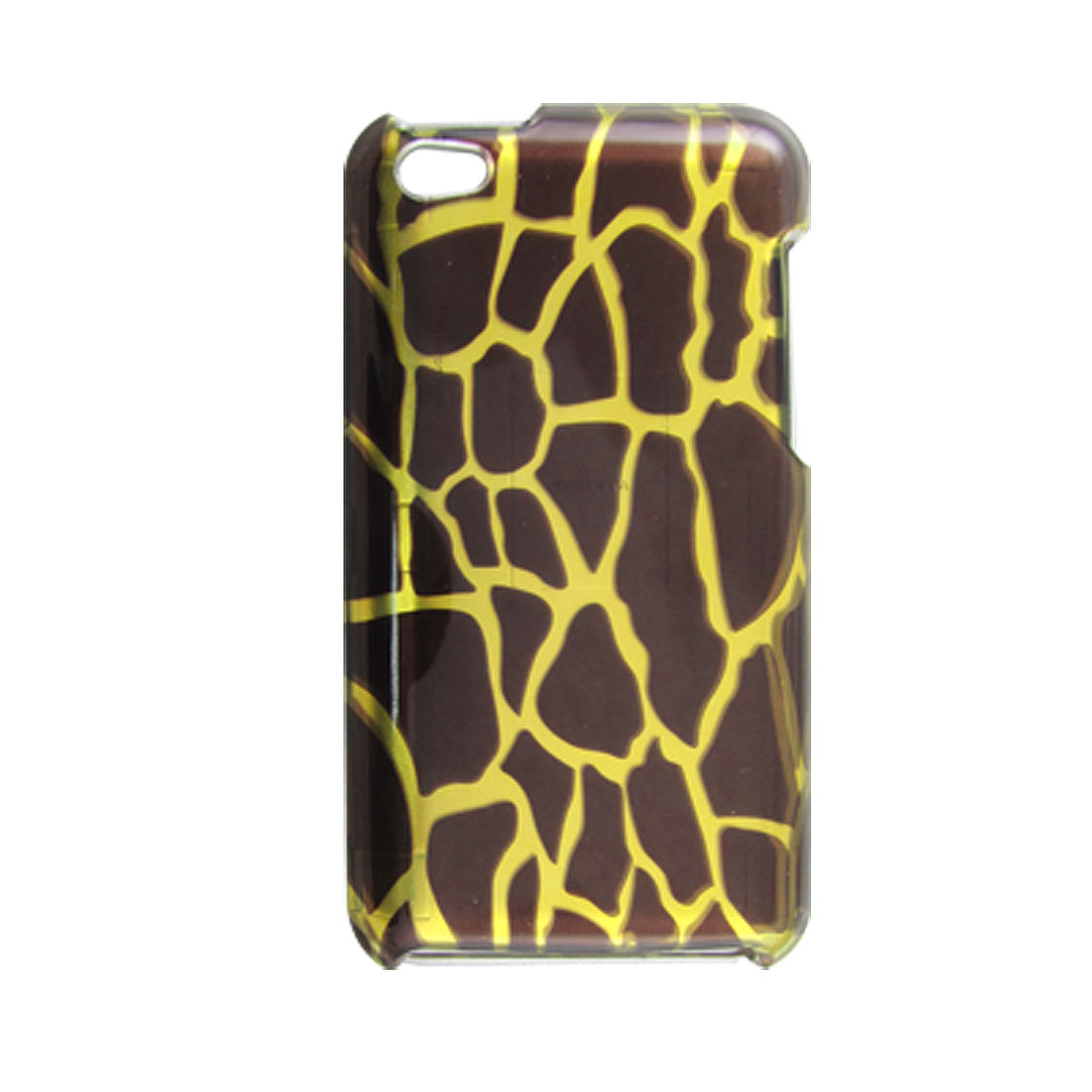 Coffee Gold Tone Giraffe Style Plastic Detachable Case for iPod Touch 4G