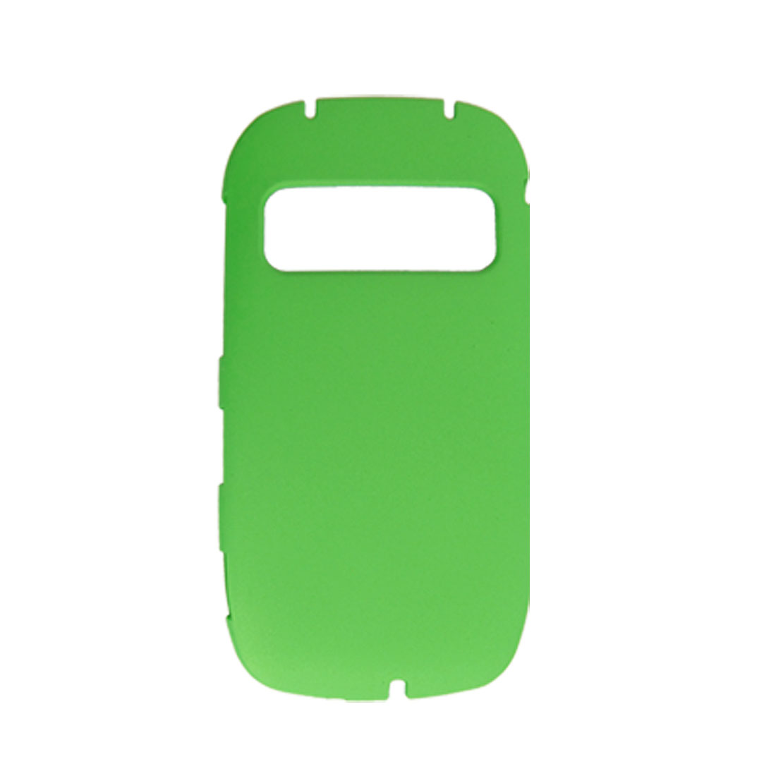 Green Rubberized Hard Plastic Back Cover Case for Nokia C7