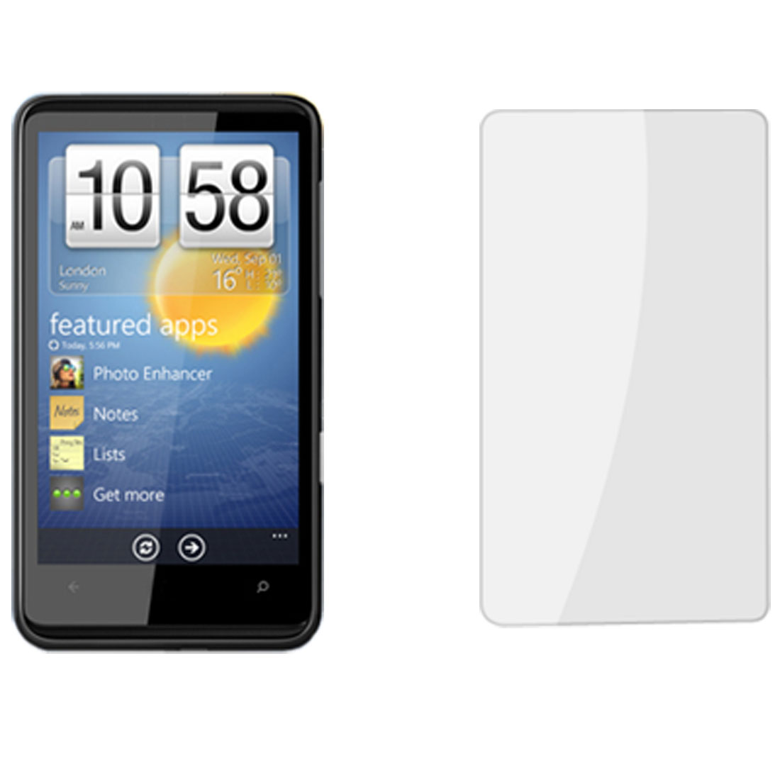 Protective LCD Touch Screen Guard Clear Film for HTC HD7