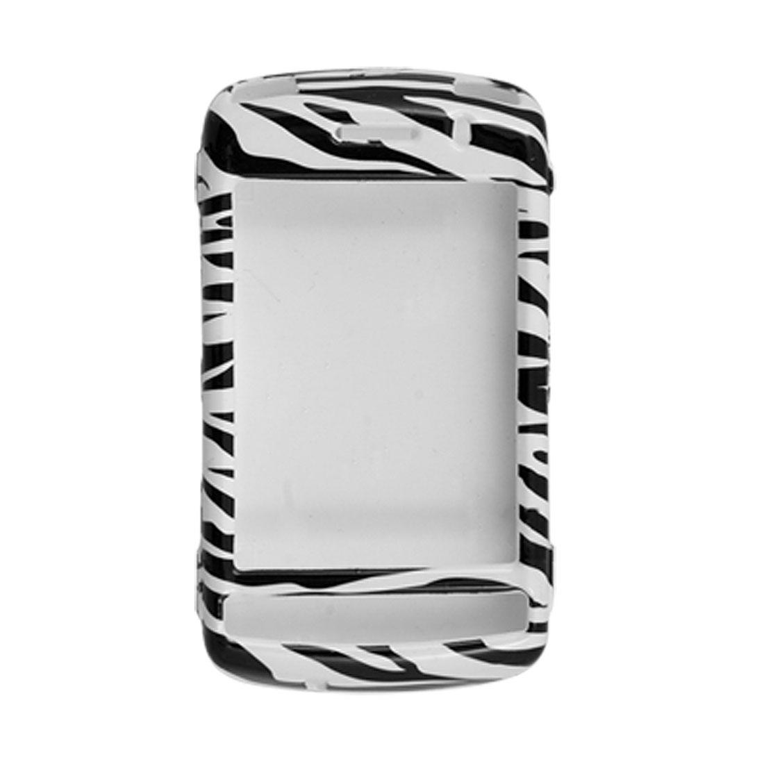 White Black Zebra Print Plastic Case Cover for BlackBerry 9530