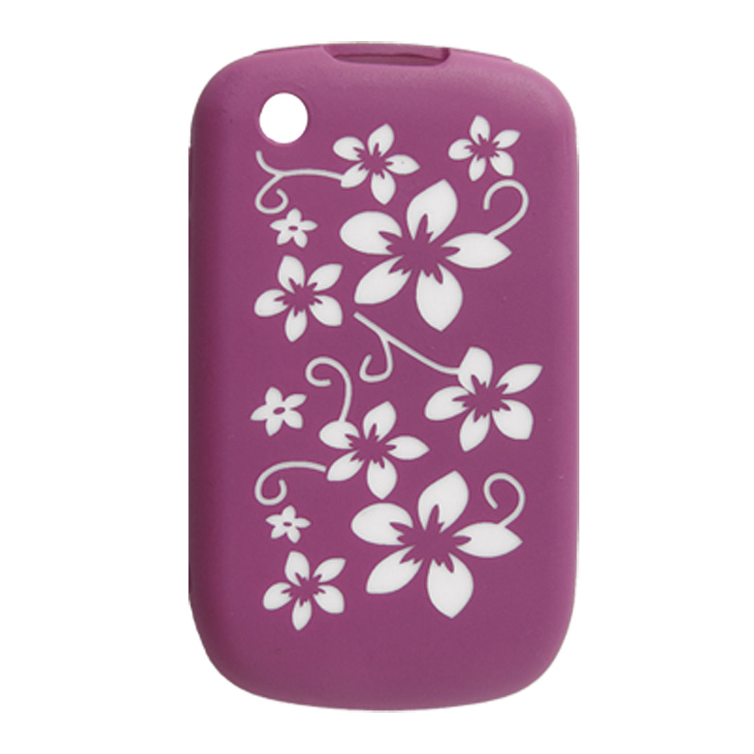Amaranth White Floral Silicone Skin Cover for Blackberry 8520 8530