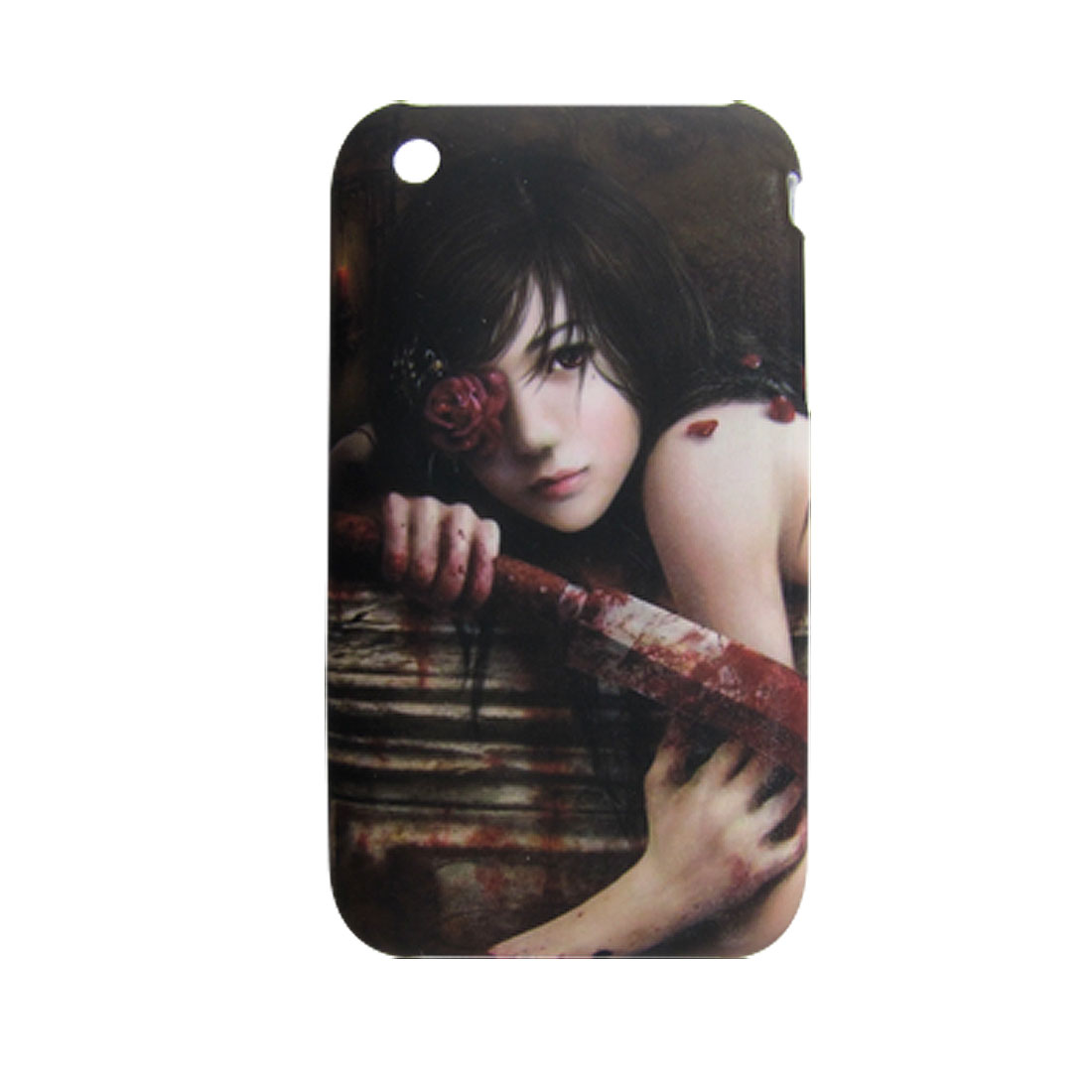 Dreamy Lady Print Rubberized Plastic Back Case for iPhone 3G