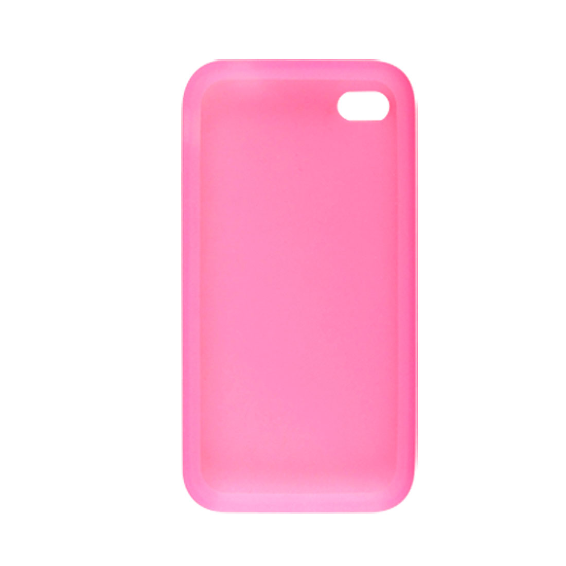 Pink Silicone Skin Back Case Protector for iPhone 4 4G