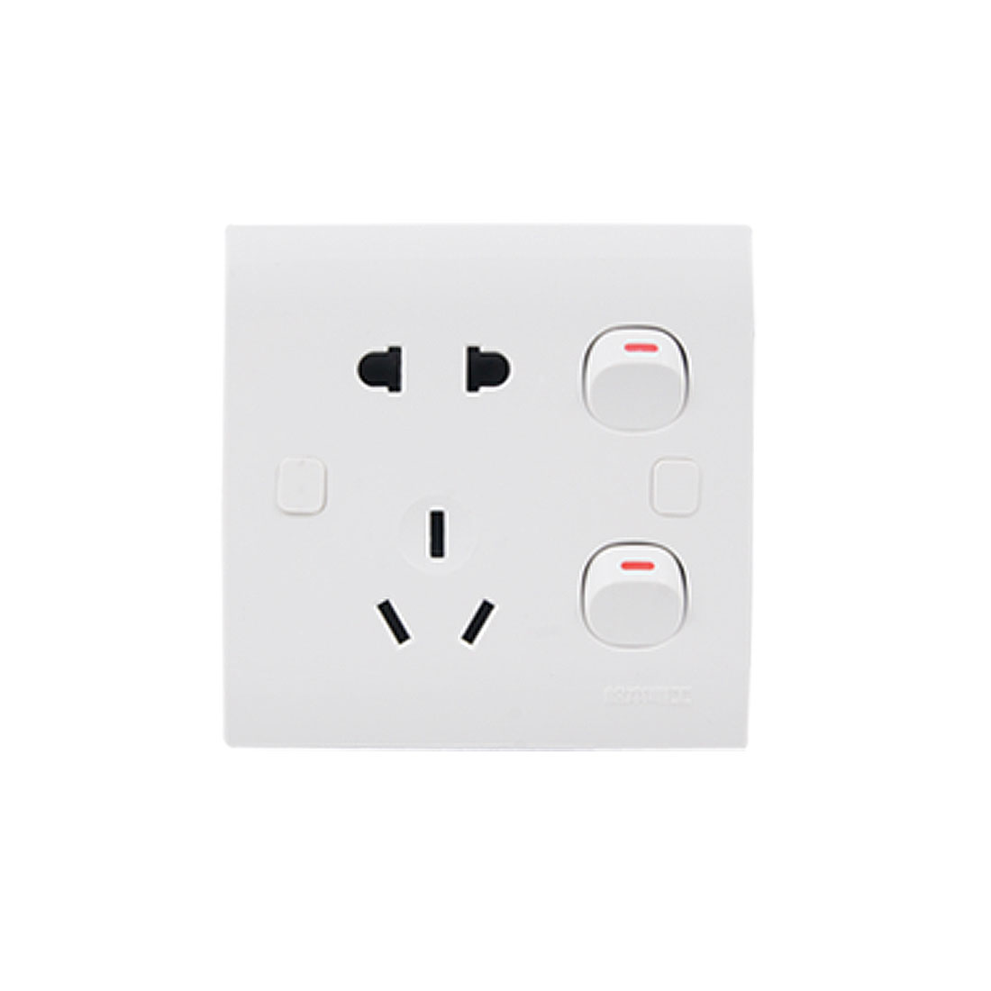 250V 10A White Square Switched Socket Outlet Wall Plate