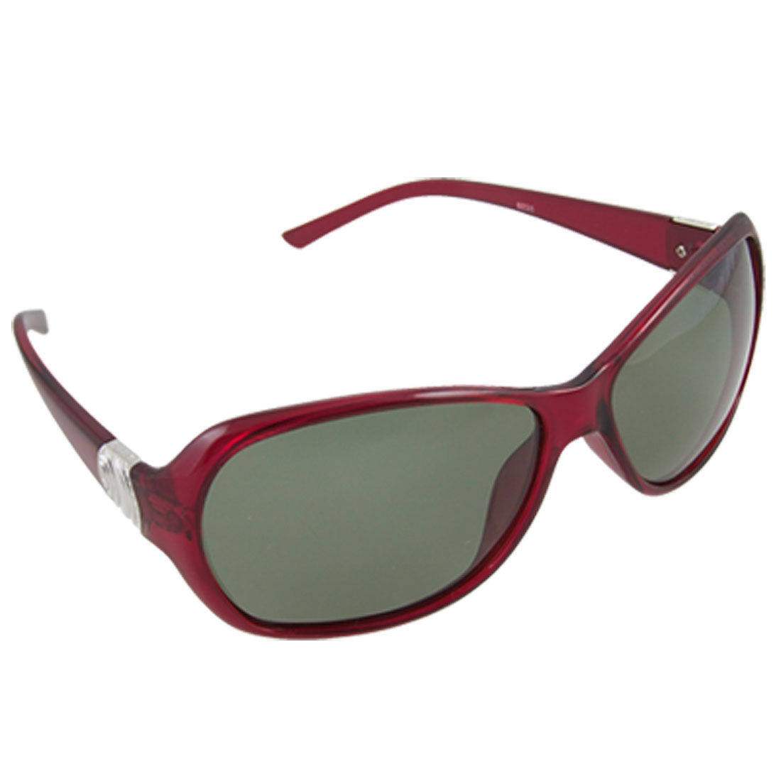 Ladies Burgundy Plastic Full Frame Sports Polarized Sunglasses
