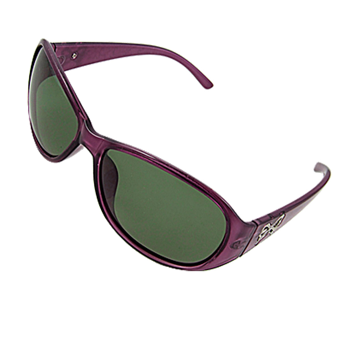 Ladies Dark Magenta Plastic Bowtie Arms Polarized Sunglasses