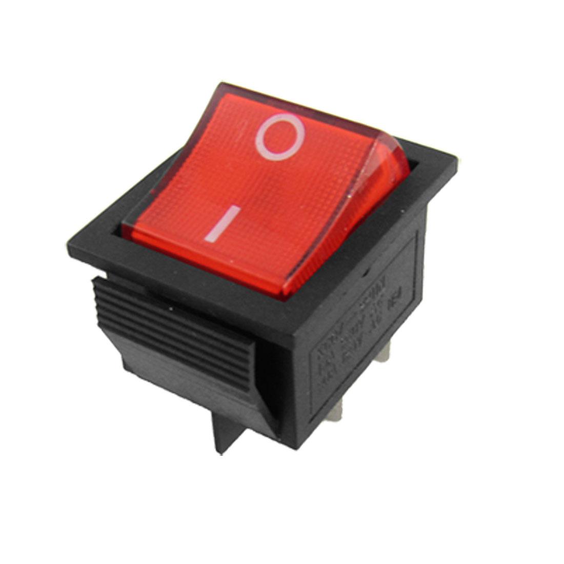 Red Light 4 Pin DPST ON/OFF Snap in Rocker Switch 15A/250V 20A/125V AC 28x22mm