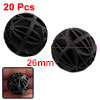 Aquarium Fish Tank Plastic Bio Biochemical Ball Pond Filter Black 26mm 20 Pcs