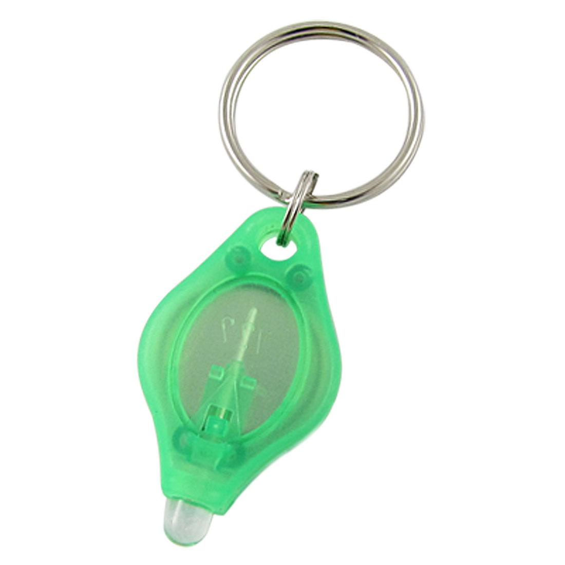 F5-LED Bulb Green Plastic Mini Flashlight Keyring