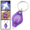 Handy Purple Cover F5-LED Bulb Torch Light Lamp Keychain Keyring Flashlight