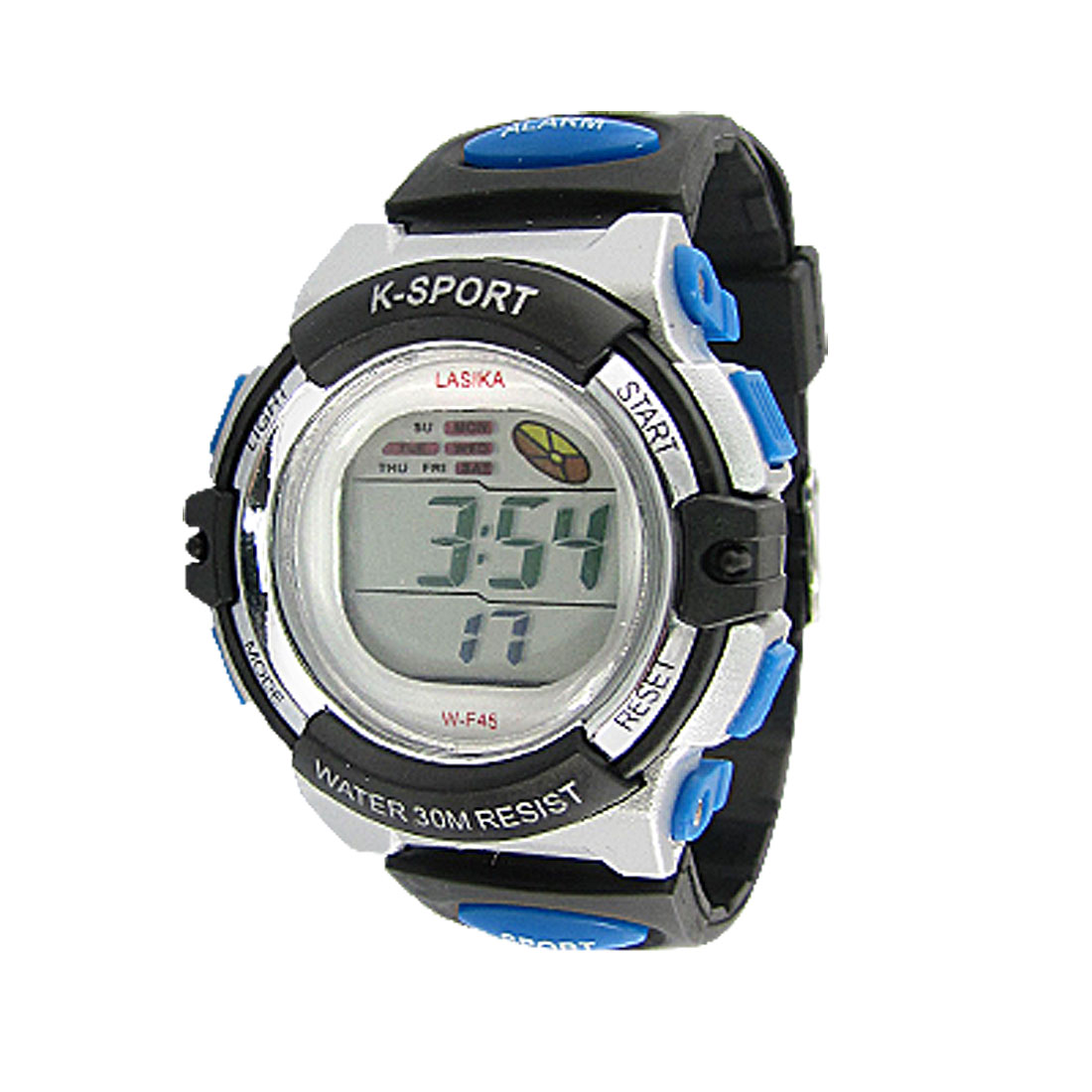Water Resistant Plastic Band Coldlight Alarm Chime Digital Sports Watch