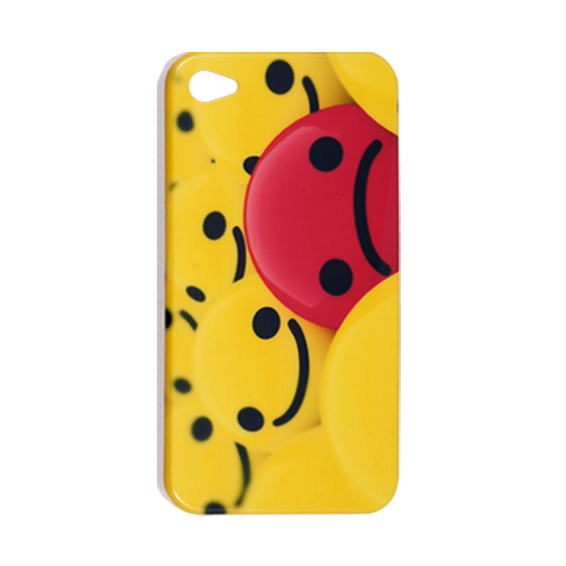 Smile Sad Face IMD Pattern Plastic Back Case for iPhone 4 4G