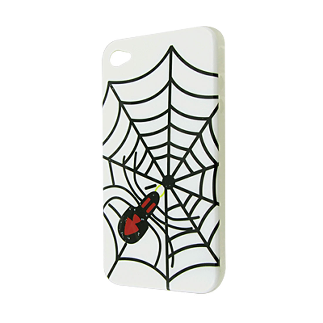 Spider Web Pattern IMD Plastic Back Cover for iPhone 4 4G