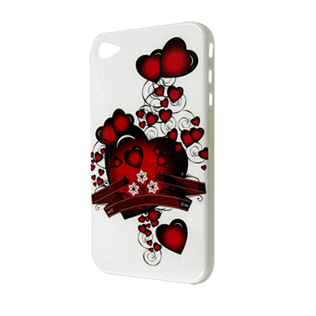 Hearts Printed IMD Hard Plastic Back Case for iPhone 4 4G