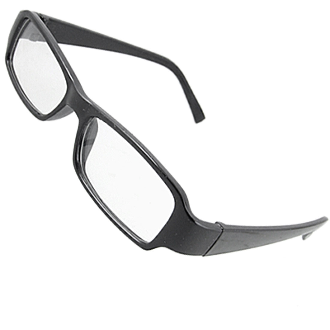 Unisex Plastic Black Full Rim Frame Eyeglasses Clear Lens Glasses