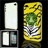 IMD Tiger Pattern Hard Plastic Back Case for iPhone 4 4G