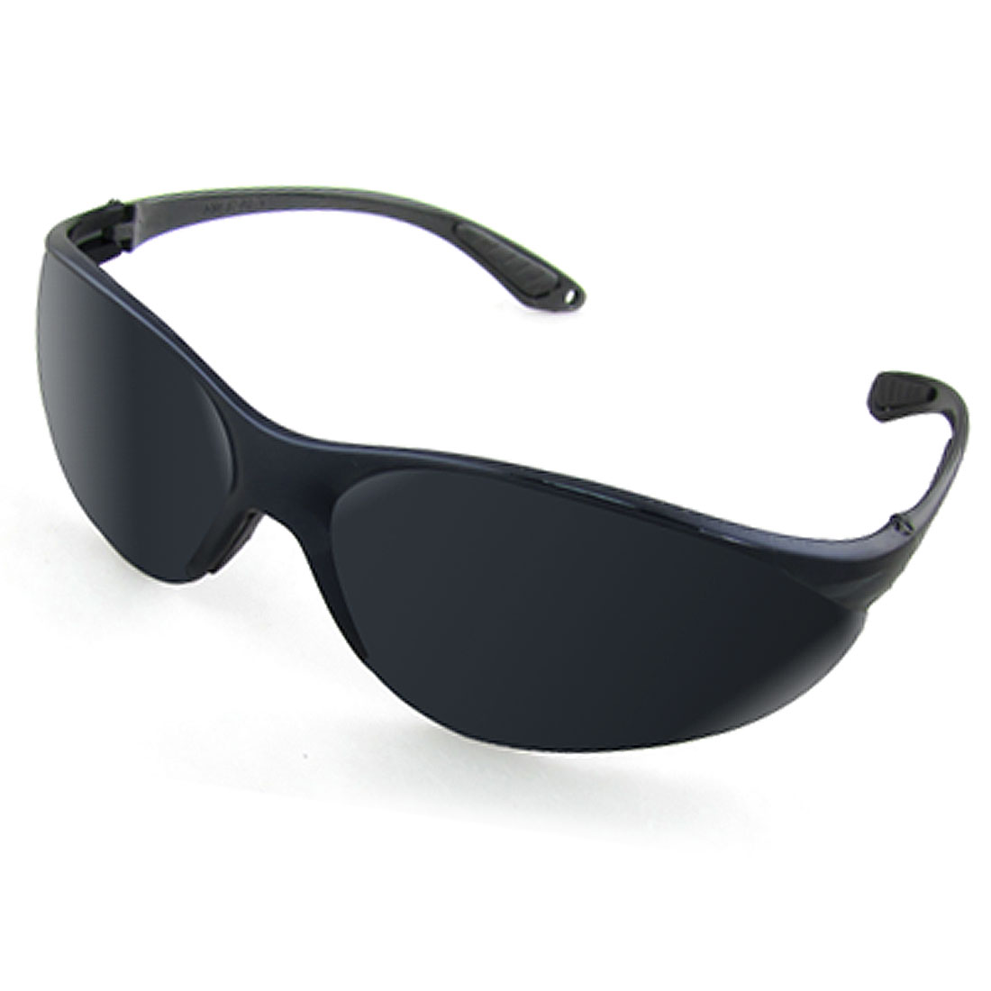 Unisex UV Protection Black Plastic Arms Dark Lens Sports Sunglasses