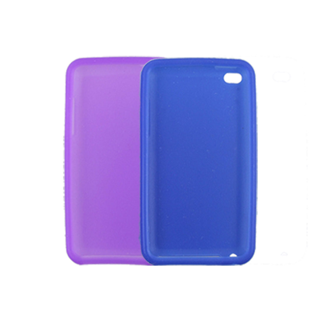 2 Pcs Purple Blue Silicone Skin Case Guard for iPod Touch 4G