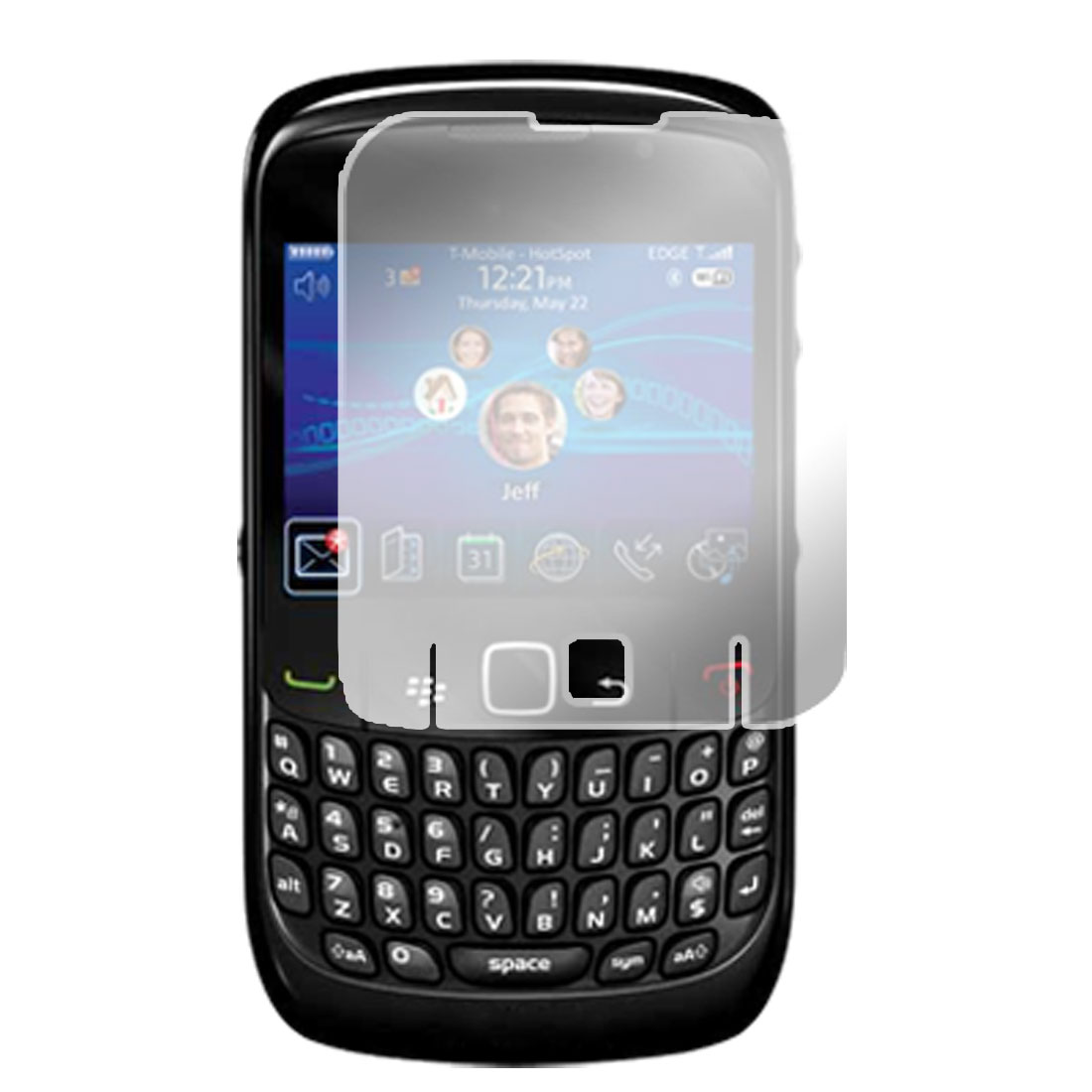 Clear LCD Screen Protector Guard for Blackberry 8520