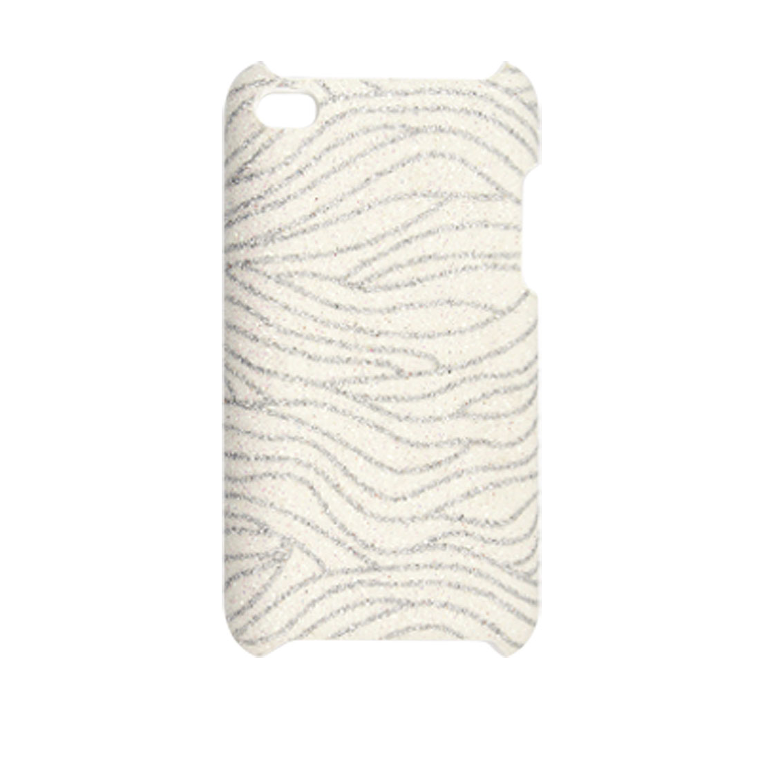 Gray Contour Line Glittery Back Cover for iPod Touch 4