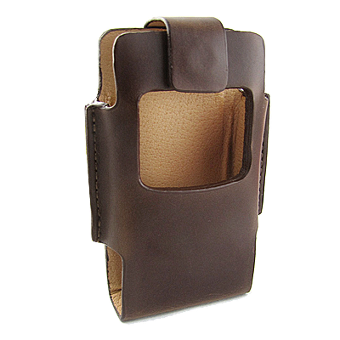 Brown Faux Lether Magnetic Flap Pouch for Motorola V3
