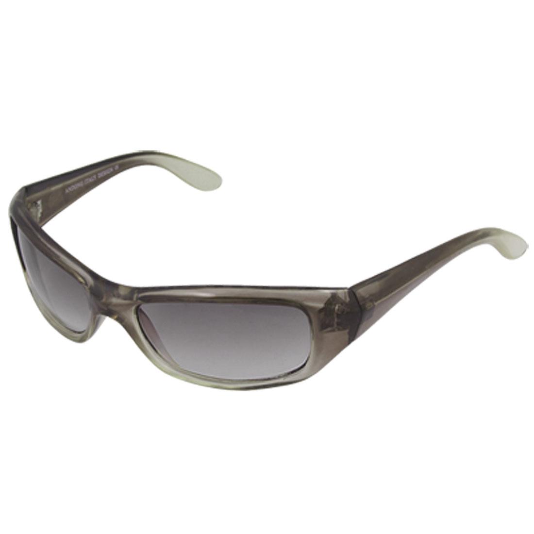 Clear Gray Rectangle Lens Plastic Full Frame Sunglasses
