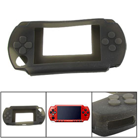 Clear Black Soft Silicone Skin Cover for Sony PSP 2000
