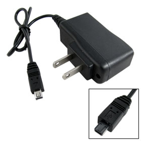 Home Wall USB 4Pin Charger Adapter Black for bluetooth Headset