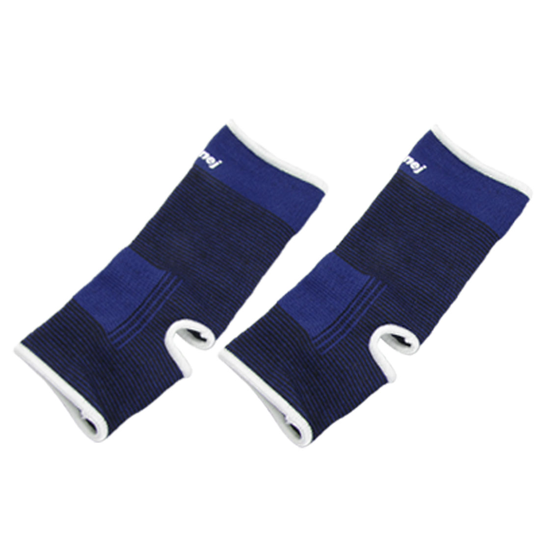 1 Pair Black Blue Pullover Elastic Ankle Support Protector