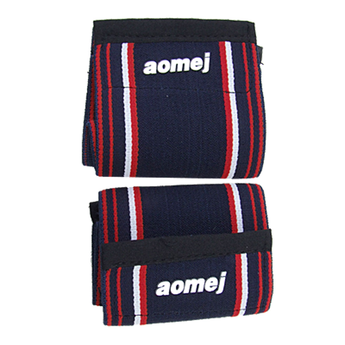 2pcs High Elasticity Stripes Dark Blue Sports Wrist Band Support