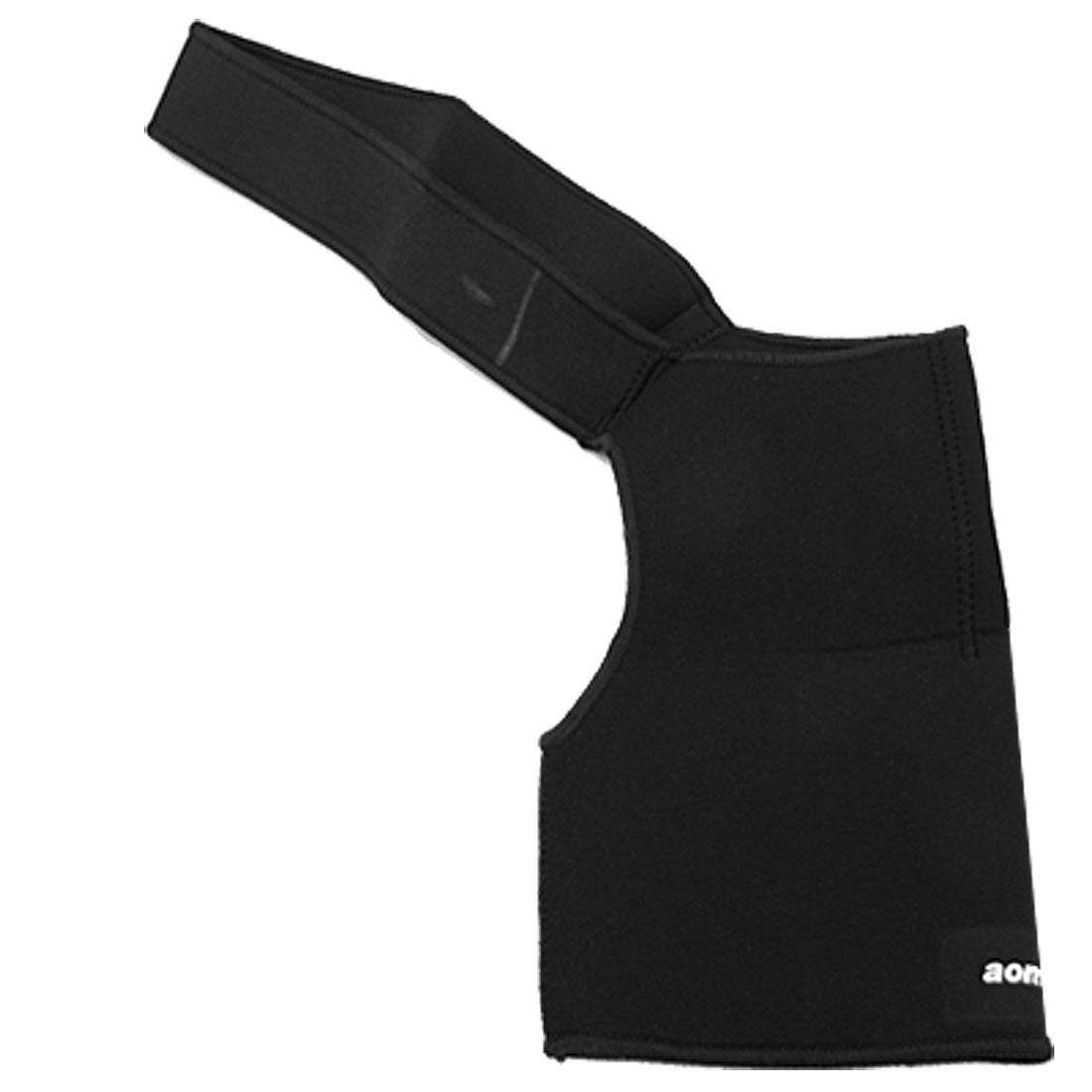 Neoprene Single Shoulder Support Wrap Brace Black for Sprain Injury Prevention