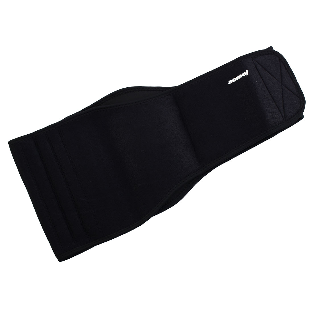 Black Neoprene Waist Support Back Elastic Brace
