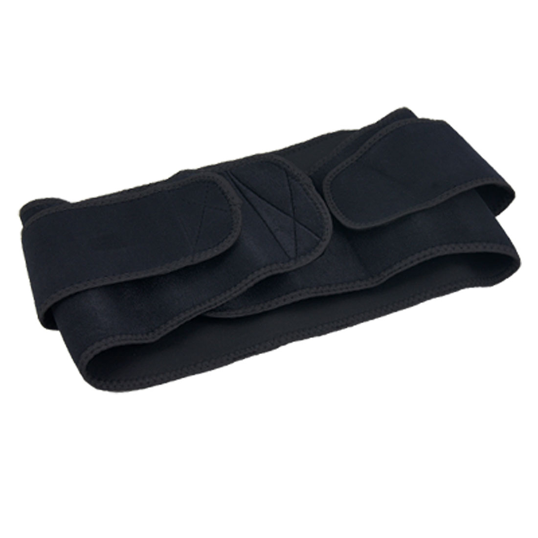 Black Adjustable Waist Support Wrap w Compression Strap
